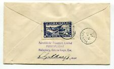 Canada Semi Official Airmail 1926 Fairchild - Rouyn Goldfields PILOT SIGNED FFC