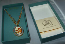 New w/box Vatican Library Collection GoldTone Raphael's Angel Pendant Necklace