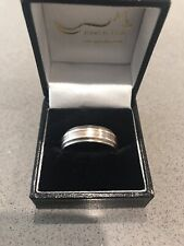 Titanium ring with Rose Gold Band