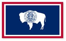 2 x Wyoming Emblème Drapeau Vinyle Autocollants Voiture Van Camion Taxi, camion