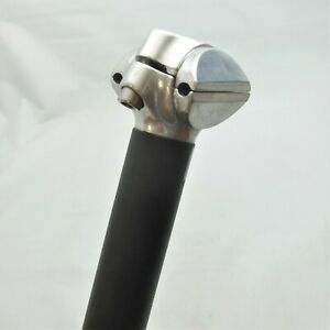 Alloy Micro Adjust Seatpost Short Black - 30.0mm x 210mm
