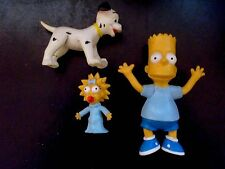 1990 Bart Simpson - Maggie Simpson + 101 Dalmation - Rubber Figurine