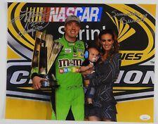 Kylie Busch and Samantha Busch NASCAR Autograph Signed Photo JSA 11 x 14