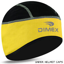 Cycling Skull Cap Bike Motorbike Under Helmet Winter Thermal Windstoper Hat All Black