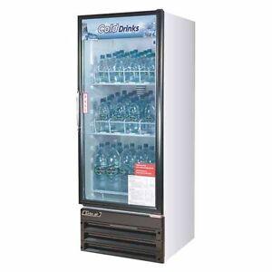 Turbo Air TGM-11RV-N6 Refrigerator 1 Door Swing Glass Merchandiser, White Cabine