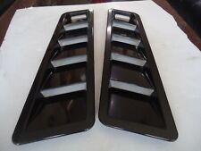 Car Hood Side Fender Air Flow Decorative Vent Cover Black X 2 Pieces