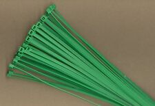 """100 14"""" Inch Long 50# Pound GREEN Nylon Cable Zip Ties Ty Wraps MADE IN USA"""