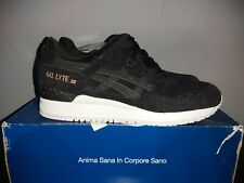 Asics GEL-LYTE III 'Rose Gold Pack' Black Suede Size UK11 (US12) BNWB