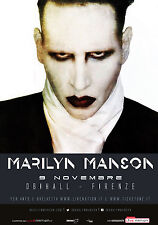MARILYN MANSON 2015 FIRENZA (FLORENCE), ITALY CONCERT TOUR POSTER - Alt Metal
