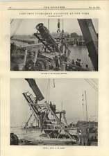 1915 GHISA ACQUEDOTTO Sottomarino NEW YORK tubo di connessione per posa skidway