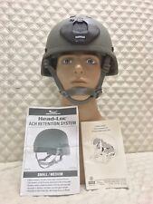 MSA ACH SOF Ballistic Helmet W/NOROTOS NVG Shroud, OpsCore Chin Strap Sz:MED
