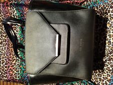 """Handbag Ted Baker Bucket Bag Black lots of compartments used con 15"""" w x 11"""" h"""