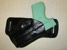 GLOCK 43, FORMED LEATHER,SOB, OWB BELT HOLSTER, RIGHT HAND, ULTRA SLIM DESIGN
