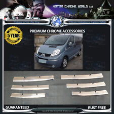 FITS TO RENAULT TRAFIC CHROME GRILLE COVERS 5y GUARANTEE 2001-2014 SUPER OFFER