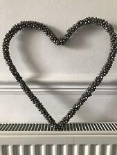 Hanging Wall Heart Metal Bells