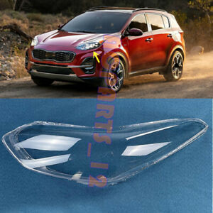 Fit for Kia Sportage 2017-2019 Left Side Headlight Clean Cover PC+Glue