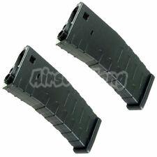 Airsoft Parts APS 2pcs 300rd Hi-Cap Magazine for FMR ASR UAR M4 M16 AEG Black