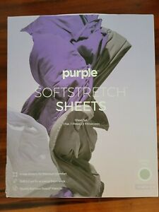 Purple Soft Stretch Sheets Set ~Bamboo-Based King  ~Color Gray ~NEW