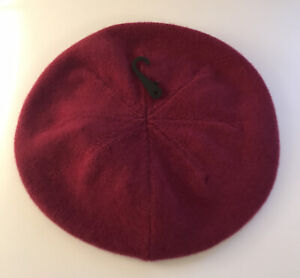 John Lewis 100% Pure Cashmere Luxury Beret Hat Colour Red Berry, BNWT