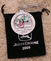 2009 John Deere Pewter Christmas Ornament