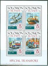 SOLOMON ISLANDS 2014 SPECIAL TRANSPORT EMERGENCY VEHICLES SHEET  MINT NH