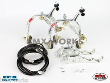 Dia-Compe MX1000 - MX120 Silver & Black Brake Set - Old Vintage School BMX