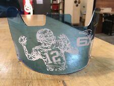 TOM BRADY Custom Made Football Helmet Visor, Laser Etched Universal Fit 6X CHAMP