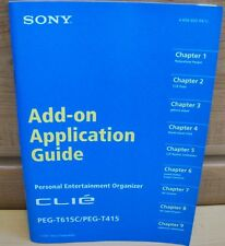 Sony Clie Peg-T615C/Peg T415 Add-on Application Guide Manual Book Reduced Price