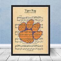 Clemson University Tiger Rag Logo Fight Song SEC South Carolina Gift Football