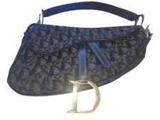 Christian Dior Blue Saddlebag Purse