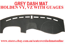 DASH MAT,GREY DASHMAT FIT HOLDEN VY, VZ 2002-0206, WITH GAUGE