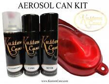 CANDY RED AEROSOL CAN KIT - SCOOTER, BIKE,  PEARL, CUSTOM PAINT, AIRBURSH