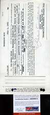 JULIE ANDREWS PSA/DNAA HAND SIGNED 1965 PROMISSORY NOTE AUTHENTIC AUTOGRAPH