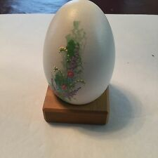 Painted Hollow Egg, On Stand, See Picture, Egg Is About 3 1/2 Inches High