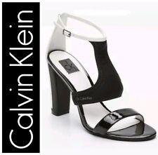 CALVIN KLEIN IBIS Sandali neoprene+patent nero/bianco n. 37