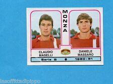 PANINI CALCIATORI 1980/81-Figurina n.436- MASELLI+MASSARO - MONZA -Rec