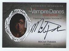 Vampire Diaries season 4 autograph insert card of Micah Parker as Adrian