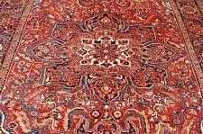 C1930s Antique Room Size Heris Serapi Rug 8.11x11.10 Rare Design,Colors