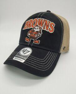 Cleveland Browns 47' Brand Legacy black Adjustable snapback Hat cap new clean up
