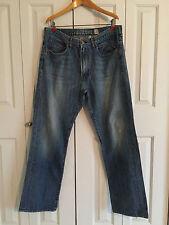 """Guess Men's """"Colby"""" Classic Fit 100% Cotton Light Blue Denim Jeans Size 36 x 32"""