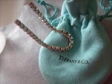 Tiffany 925 S/Silver Venetian Box Link Chain Bracelet