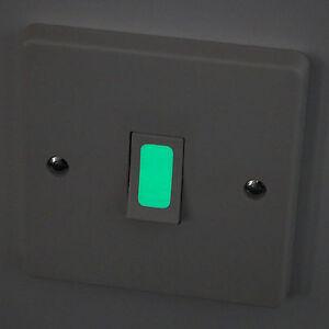 Luminescent Glow in the Dark Vinyl Light Switch Stickers (16 Pack)