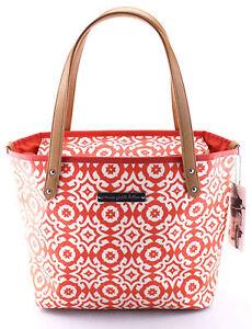 PETUNIA PICKLE BOTTOM 'Downtown Tote' Orange Coated Canvas Diaper Bag