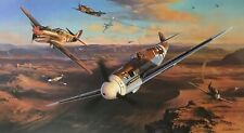 Desert Sharks and Eagles by Nicolas Trudgian autographed by Luftwaffe & RAF Aces