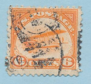 USA FIRST AIRMAIL STAMP SCOTT C1 USED FINE to VERY FINE CENTERED REPAIRED CHEAP