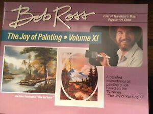 BOB ROSS, JOY OF PAINTING, companion Book to TV SERIES 11-THIRTEEN FAB PAINTINGS