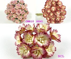 Miniature Flower Mulberry paper  Tiny 506 Color Hydrangea/Cherry/Sakura/Rose