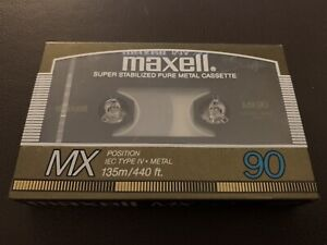 Maxell MX 90 Min Cassette Tape (1987 Version) (Sealed)
