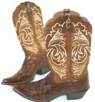 Ariat  Womens Western Cowboy Boots size 8.5  B 10005920 Brown Leather Stitched