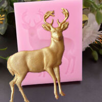 3D Deer Silicone Moulds Candy Chocolate Cookie Baking Mould Christmas Cake To YK